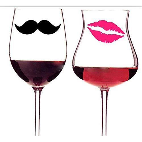 Wandaufkleber Diy 10 Schnurrbärte & 10 Lippen Vinyl Aufkleber Aufkleber Für Hochzeitsdekoration Tassen Tassen Weinglas Aufkleber (Für Schnurrbart-aufkleber Tassen)
