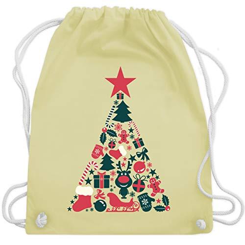 Weihnachten & Silvester - Weihnachtsbaum Collage - Unisize - Pastell Gelb - WM110 - Turnbeutel & Gym Bag