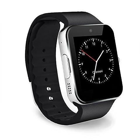 CHEREEKI Bluetooth Smart Watch Handy-Uhr Mit Kamera SIM / TF Card Slot Pedometer Touch Screen Smartwatch Armbanduhr Watch Phone für Android Smartphones