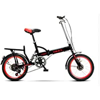 YEARLY Bicicleta plegable estudiante, Bicicleta plegable Hombres y mujeres Ligero Para niños Escuela 6 velocidad