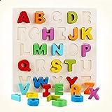 لعبة احجية خشبية لتعليم الحروف للاطفال – لعبة تركيب ثلاثية الابعاد للاطفال في مرحلة الطفولة المبكرة – احاجي الصور المقطعة