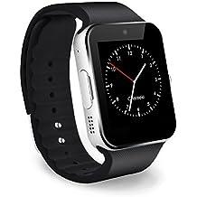 CHEREEKI Bluetooth Smart Watch Reloj Inteligente Teléfono Inteligente Pulsera con Cámara Pantalla Táctil Soporte SIM / TF Smartwatch para Android Samsung HTC LG Huawei Sony Reloj Deportivo