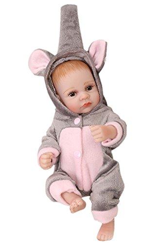 Elefante pijama 26cm Altura Baby DOLLS realista emulación de muñeca muñecas juguetes para los niños