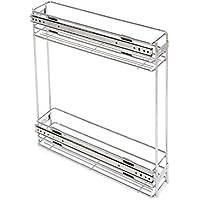 Emuca 8923611 Carrello portabottiglie estraibile per mobile di cucina in acciaio cromato - Arredamento - Confronta prezzi