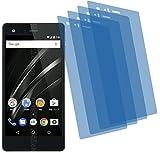 4ProTec 4X Crystal Clear klar Schutzfolie für Vaio Phone A Premium Displayschutzfolie Bildschirmschutzfolie Schutzhülle Displayschutz Displayfolie Folie