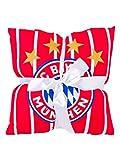FC Bayern München Decke und Kissen Set, Kuscheldecke, Sofakissen, rot/weiß