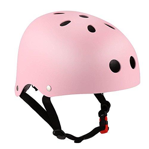 Speedrid Skaterhelm für Jungen, Fahrradhelm Multi-Sport Sicherheit (Rosa, 50-53cm)