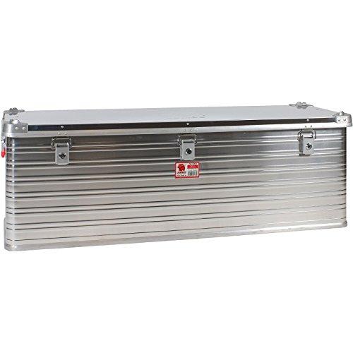 JUMBO Alluminium Transport-Box Alu 163 Liter ALU163 L 1182 x B 385 x H 412 mm Kiste Truhe Lager-Box Alubox