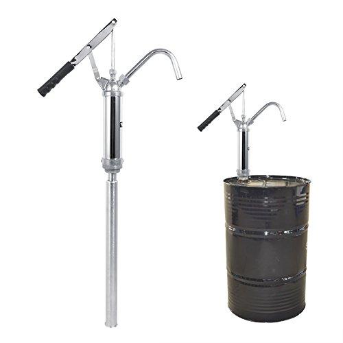 Zerone Fasspumpe, Hebel Barrel Pumpe Hand Aktion Öl Fluid Diesel Wasser Transfer Chrome vergoldet 55 Gallone Trommel mit abnehmbare Düse (Chrome-wasser-pumpe)