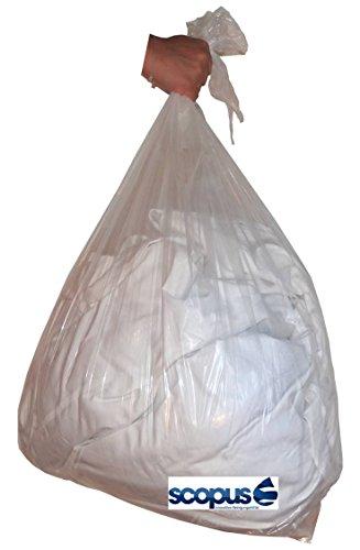 50 wasserlösliche Wäschebeutel für Infektions- und Schmutzwäsche, max. 6 kg, Wäschesäcke für kostengünstige, aber effektive Infektionskontrolle