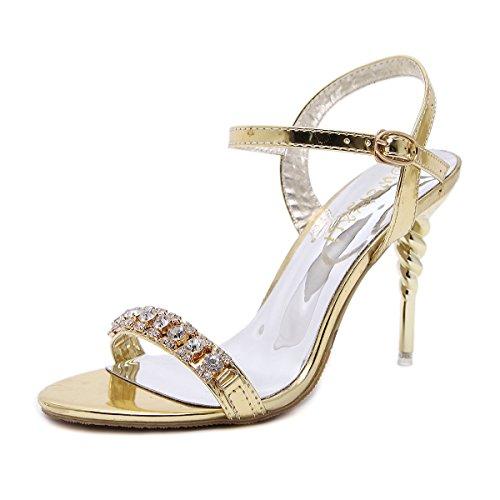 TAOFFEN Damen High Heels Sandalen Party Schuhe  39 EURed