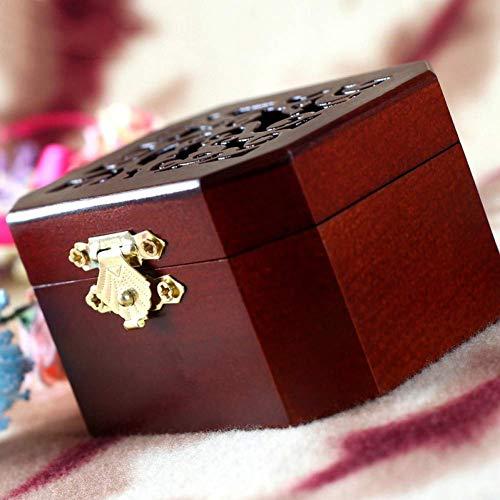 BYBAY Spieluhr Vintage Hollow Antique Wood Spieluhr Pine Carving Music Box Spieluhr Tunes Music Theme, Interne Maschinen/Gold -