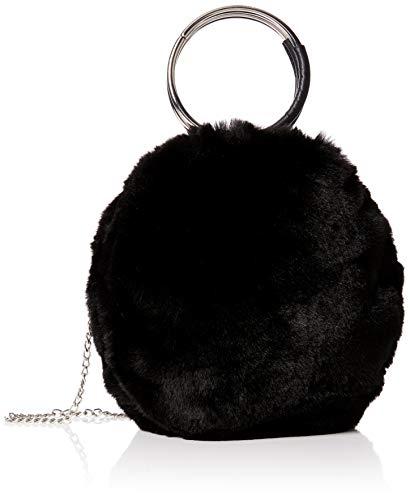 New look round metal handle - borse a mano donna, nero (black), 10x20x10 cm (w x h l)
