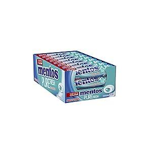Mentos Chewing-Gum ohne Zucker, Pure Fresh Duft Menthol Eukalyptus, 24 Rollen