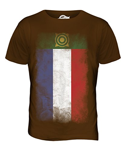 CandyMix Chakassien Verblichen Flagge Herren T Shirt Braun