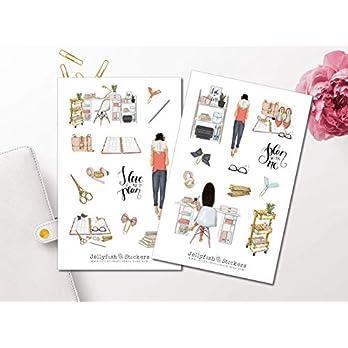 Plannergirl Sticker Set | Aufkleber | Journal Sticker | Planersticker | Mädchen Sticker | Sticker Schreibtisch | Sticker Planer
