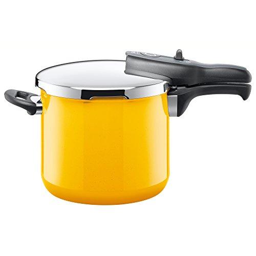 Silit 2120260431 Sicomatic T-Plus Schnellkochtopf 6,5 Liter crazy yellow ohne Einsatz