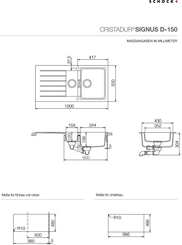 Schock Signus D-150-FB Spüle Magma - 2