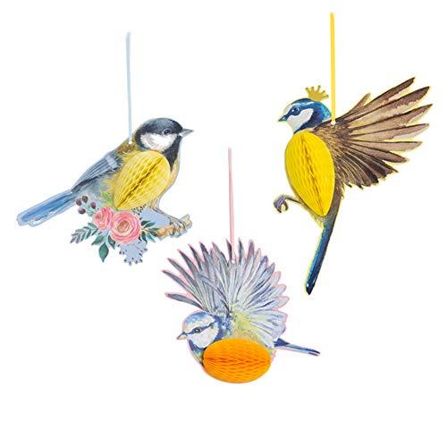 n Honeycomb-Kugel-Vogel-Entwurfs-Gewebe-Kugel Nursery Kinderzimmer Hochzeitsdeko Neuheit Papier Vogel Honeycomb ()