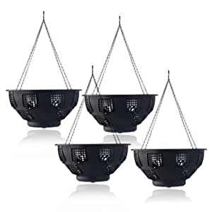 """Set of 4 x 15"""" Easy fill Hanging Baskets"""