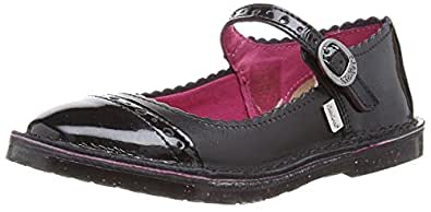 Kickers Girls Adlar Brogue Mary Jane Flats 112852 Black 13 UK Child, 32 EU
