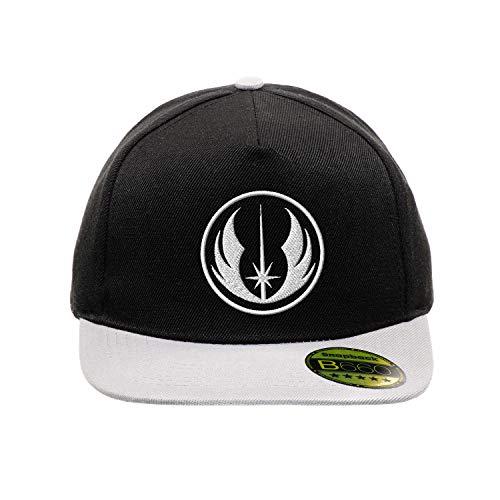 Jedi Star Wars White Schwarz/Grau Hut Flacher Gipfel Verstellbar Snapback Unisex Original Bestickte Urban Logo Mütze