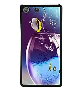 printtech Fish Glass Water Back Case Cover for Sony Xperia M5 Dual E5633 E5643 E5663 , Sony Xperia M5 E5603 E5606 E5653