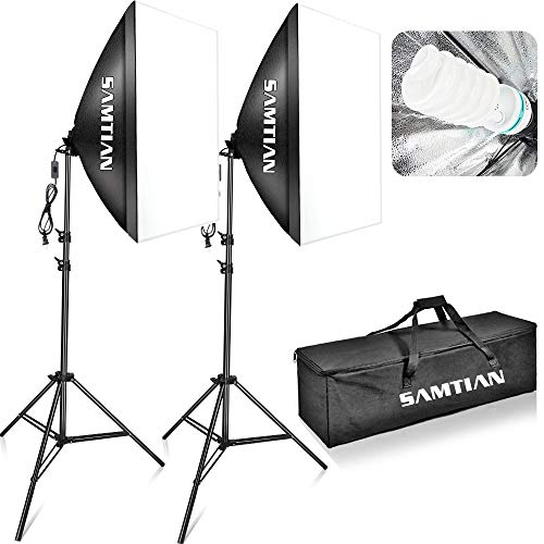 SAMTIAN Softbox Kit 5500K Luz Estudio iluminación
