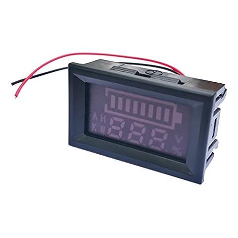 MagiDeal Capteur Indicateur Numérique de Batterie au Lithium au Plomb Testeur LED pour Afficage Reste Electricité