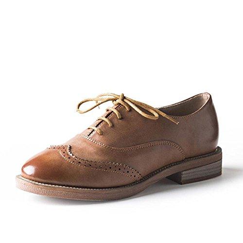 chaussures à talon plat de printemps/femmes lisse-chaussures à semelles d'Angleterre/Est lourd avec souliers pour dames petite tête ronde des C