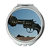Yanteng Spiegel, Schminkspiegel, eine Pistole für Ringo, Runder Spiegel, Frieden kein Krieg, Taschenspiegel, tragbarer Spiegel