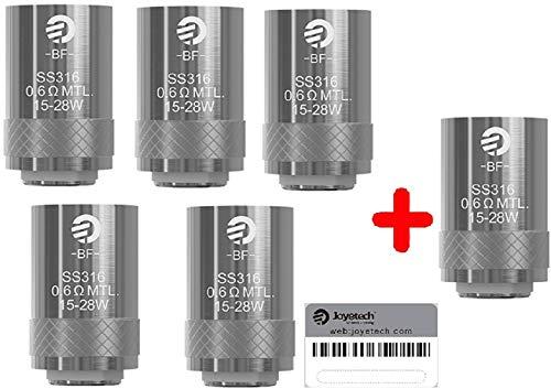 Resistenza Joyetech CUBIS BF SS316 0,6 ohm,(6pcs) senza tabacco senza nicotina