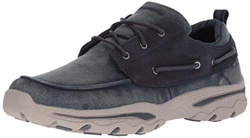 Skechers Creston - Vosen, Scarpe da Ginnastica Uomo, Blu (Navy), 46 EU