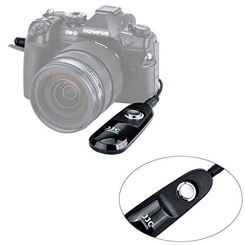 JJC Fernauslöser mit Kabel, für spiegellose Olympus Systemkamera OM-D E-M1Mark II – ersetzt Original-Olympus-Auslösekabel RM-CB2.