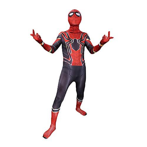YXIAOL Super Spider-Man Kostüm, Kinder Superhelden Kostüm, Helden Return Film Cosplay Kostüm, Halloween Karneval Kostüm, Erwachsener/Kind,Child-110 (Super Helden Kostüm Für Hunde)