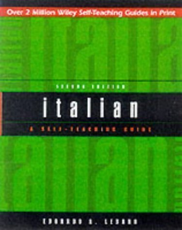 Italian: A Self-teaching Guide (Wiley Self-Teaching Guides) 2nd (second) Edition by Lèbano, Edoardo A. published by John Wiley & Sons (2000)