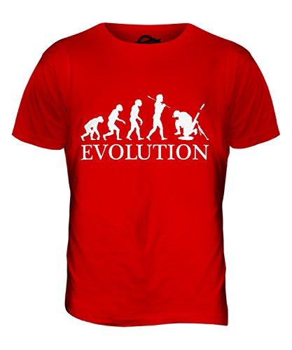 CandyMix Mörser Geschütz Soldat Mörtel Evolution Des Menschen Herren T Shirt Rot