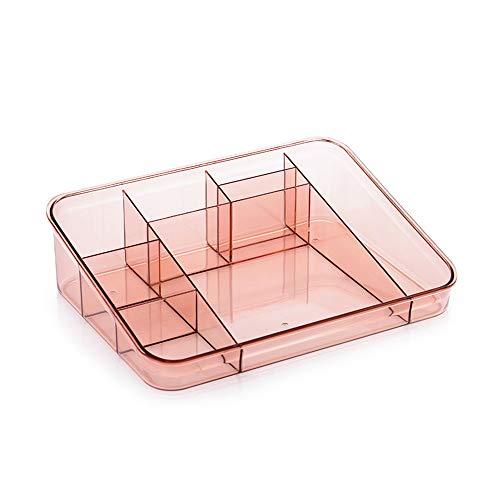 HXXXIN Cosmetic Scaffale, Acrilico Skin Care Casella di Finitura, Cosmetici Storage Box, Rossetto Storage Box (Brown),Rosa