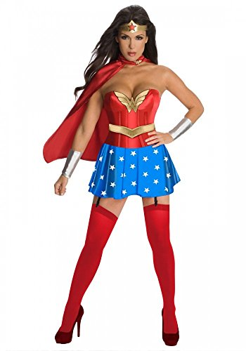 �m Wonder Girl Deluxe Superhero Gr. 36/38 Woman (Deluxe Wonder Woman Kostüm)