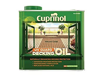 NATURAL CEDAR 2.5L : Cuprinol 2.5L Decking Oil and Protector - Natural Cedar