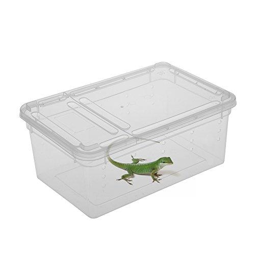 Zyurong Transparent Plastic Breed Aquatics Box for Reptiles Amphibians Test