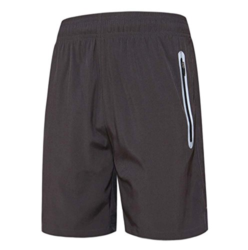 Herren Shorts Fitness Laufbekleidung Reißverschluss Tasche Reflexstreifen Shorts Sportswear Casual Shorts