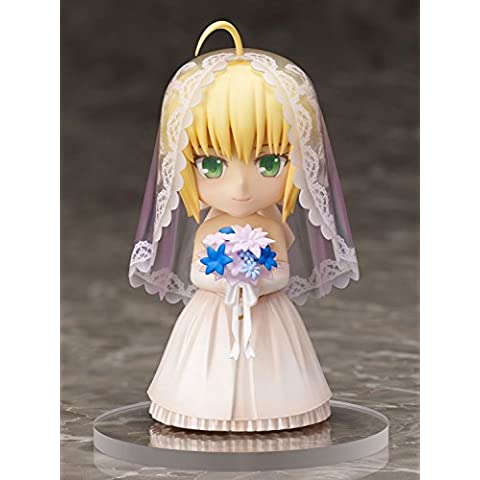 Fate/ Stay Night Chara Forme PVC Statue Saber 10th Anniversary Royal Dress Version 10 cm Aniplex