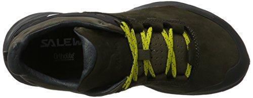 Salewa Wander Hiker Leder Halbschuh, Chaussures de Trekking et Randonnée Homme Noir (Black Olive/bergot 0948)
