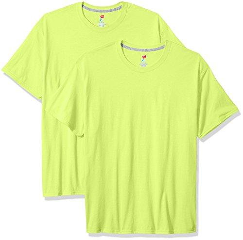 Hanes uomo S/S x-temp maglietta a maniche corte Neon Lemon Heather
