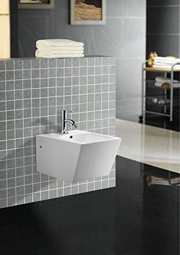 Art-of-Baan® - Design Wand bidet weiß, Keramik mit Nano Beschichtung (Lotuseffekt) (31513)