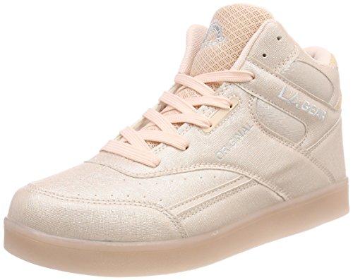 L.A. Gear Damen Flo Lights Basketballschuhe, Pink (Soft Pink/Soft Pink), 41 EU