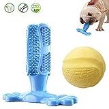 Lasoofar - Giocattolo per Cani con Palline profumate al Latte e spazzolino da Denti Giocattolo da Masticare