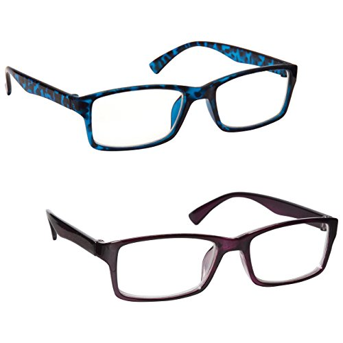 La Compañía Gafas De Lectura Azul Carey Y Púrpura
