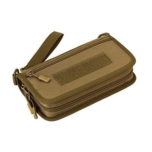 Huntvp Taktische Geldbörse MOLLE Passport-Tasche Militär Handgelenktasche Wasserabweisend Geldbeutel für 6